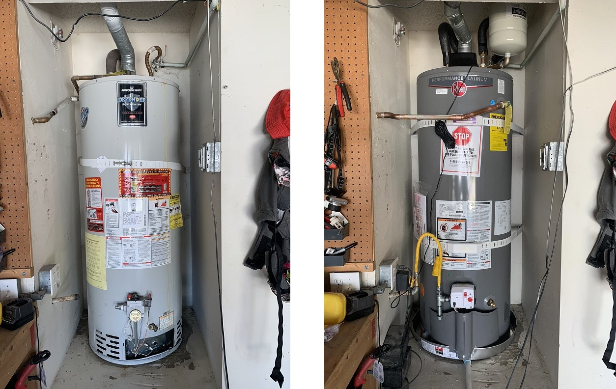 water heater replacement in oceanside